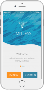 earn while using the Limitless mobile app